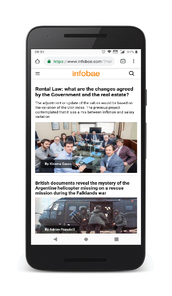 Infobae with Progressive Web App doubles its time spent on mobile site