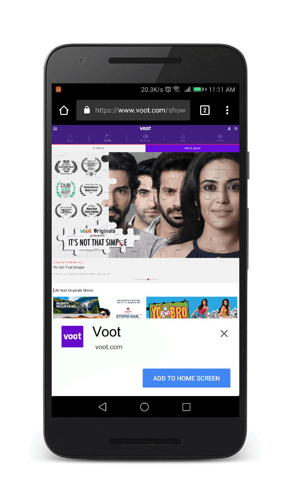 80% reduction in load time and 77% increase in conversion from visitor to video viewer with progressive web app